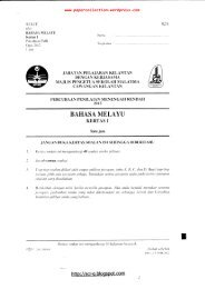 BAHASA MELAYU - Trial Paper Collection