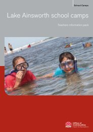 Teachers information pack - Lake Ainsworth - NSW Sport and ...