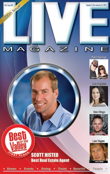 LIVE MAGAZINE VOL 8, Issue #200 January 9th THRU January 23, 2015