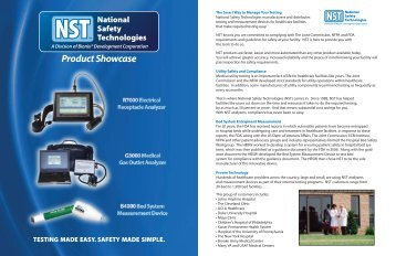 View our Product Catalog in PDF - National Safety Technologies