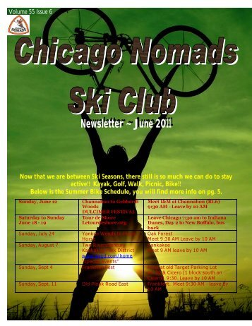 June 2011 Newsletter - Chicago Nomads Ski Club