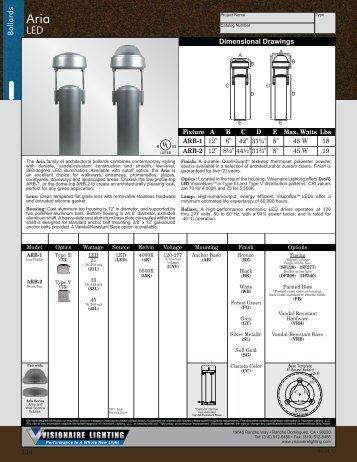 Visionaire Lighting . POG-5 . Bollards . Aria - Visionaire Lighting LLC  sc 1 st  Yumpu & Bollard - Hanover Lantern azcodes.com