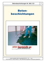 Betonbeschichtungen - Suter Swiss-Composite Group