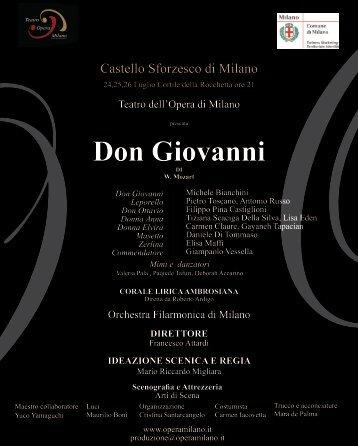 Don Giovanni - Castello Sforzesco