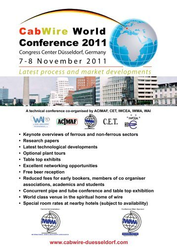 to download the brochure and registation form (pdf) - IWMA