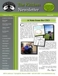 Newsletter 1 - The Kitchen Inc.