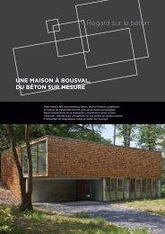 Une maison à Bousval, du béton sur mesure - Febelcem