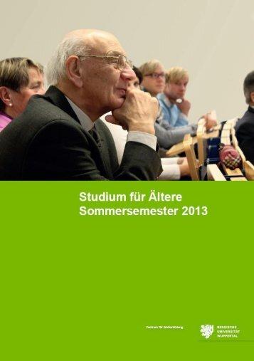 Studium für Ältere - Bergische Universität Wuppertal