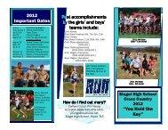2012 brochure cross country - Copy - Siegel High School