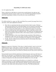 Responding To Child Sexual Abuse No. 28; Updated July 2004 ...