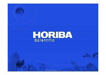 Horiba Instruments Presentation