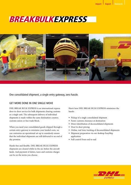 DHL Break Bulk Express Brochure