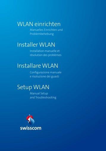 WLAN Einrichten - Swisscom