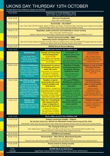 UKONS/BOPA conference - National Cancer Survivorship Initiative