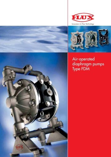 Air-operated diaphragm pumps Type FDM