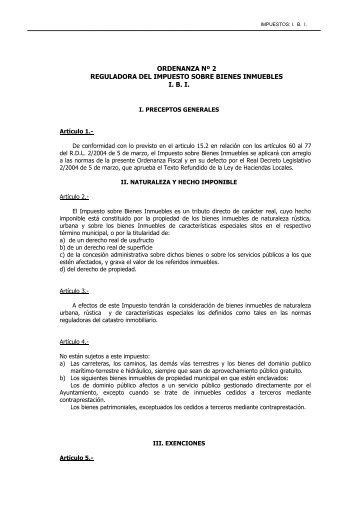 impuesto sobre bienes inmuebles - Ayuntamiento de Linares