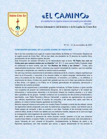 Nº 33 – 21 de noviembre de 2007 - Instituto Cristo Rey