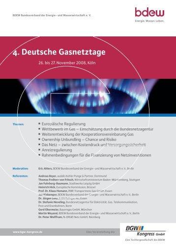 4. Deutsche Gasnetztage, 26/27. November 2008 in Köln - TAM