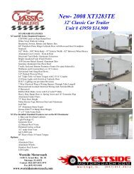 Sales Sheet- 32' Classic XT - Westside Motorcoach