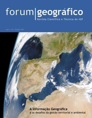 A Informação Geográfica - Instituto Geográfico Português