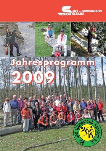 Wintersport Termine 2008/2009 - Ski- und Wanderclub Horheim