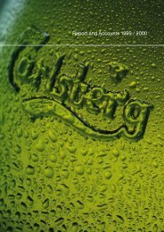 Report and Accounts 1999 / 2000 - Carlsberg Group