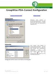 GroupWise-PDA-Connect Konfiguration - EDIS
