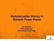 Wärtsilä Units/Modules History