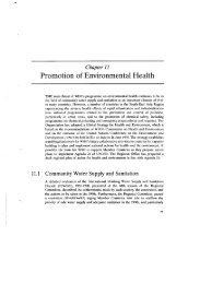 Promotion of Environmental Health - WHO SEAR Digital Repository