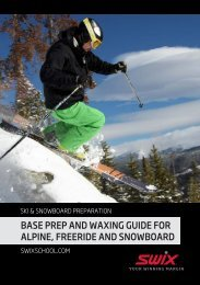 BASE PREP AND WAXING GUIDE FOR ALPINE ... - SWIX Freeride
