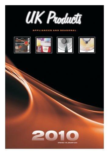 UK PRODUCTS 2009 - appliances electronics seasonal
