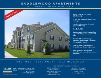 Saddlewood Brochure - Cassidy Turley