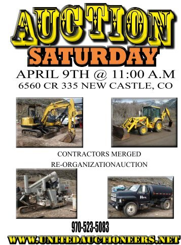 APRIL 9TH @ 11:00 A.M - United Auctioneers