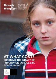 At What Cost Exposing the impact of poverty on school life - report summary