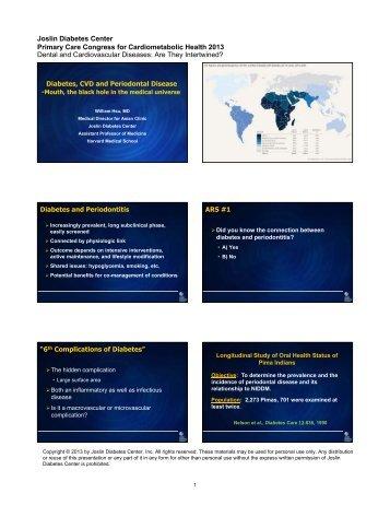 Dental and Cardiovascular Diseases - Dr Hsu.pdf - Joslin Diabetes ...