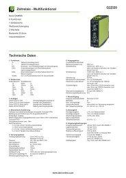 G2ZI20 Zeitrelais - Multifunktional Technische Daten