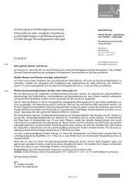 Empfehlungen zum Raumprogramm - Stadt Nürnberg