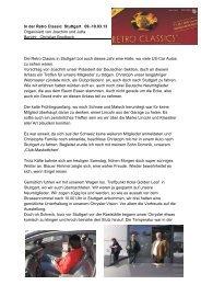 Bericht Christian Brodbeck - LINCOLN & CONTINENTAL Club Europa
