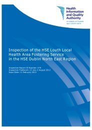 Inspection of the HSE Louth Local Health Area Fostering ... - hiqa.ie