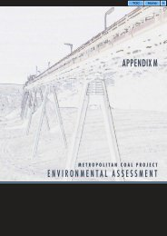 Appendix M - Socio-Economic Assessment - Peabody Energy