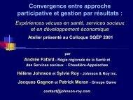 Convergence entre approche participative et gestion par résultats
