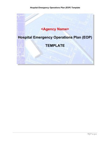 Emergency operations plans eops for k 12 education for Emergency operation plan template