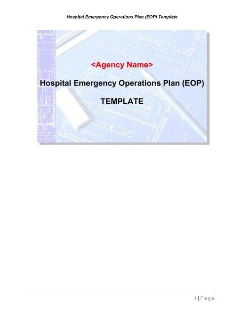 Hospital Emergency Operations Plan (EOP) TEMPLATE