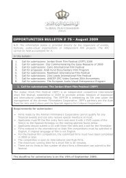 OPPORTUNITIES BULLETIN # 75 - August 2009 - The Royal Film ...