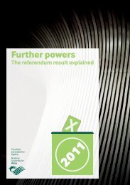 Further powers - National Assembly for Wales