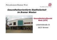 Präventionsrat Bremen West - Gesundheitstreffpunkt West