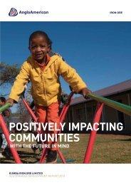 Sustainable development report 2012 - Kumba Iron Ore