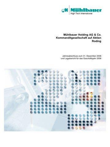 Mühlbauer Holding AG & Co. Kommanditgesellschaft auf Aktien ...