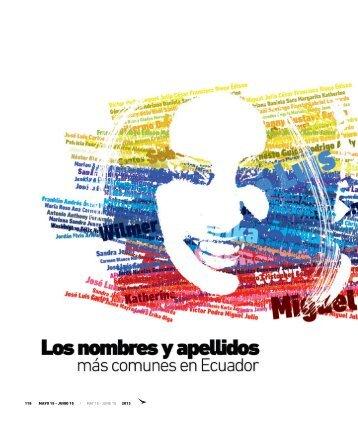 Nombres y apellidos más comunes del Ecuador - Abordo.com.ec