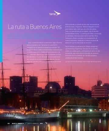 La ruta a Buenos Aires ya es una realidad - Abordo.com.ec